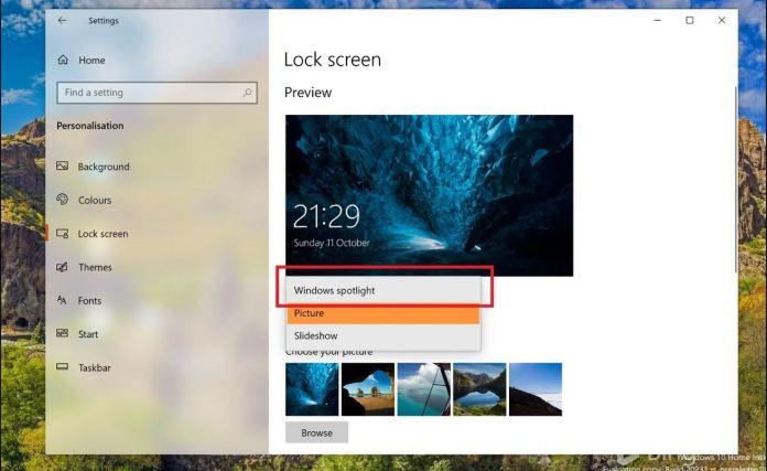 Windows Spotlight pronto podría cambiar de fondo de pantalla él sólo