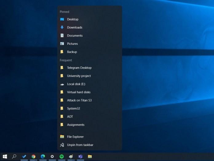 Primer vistazo a la barra de tareas flotante del rediseño de Windows 10