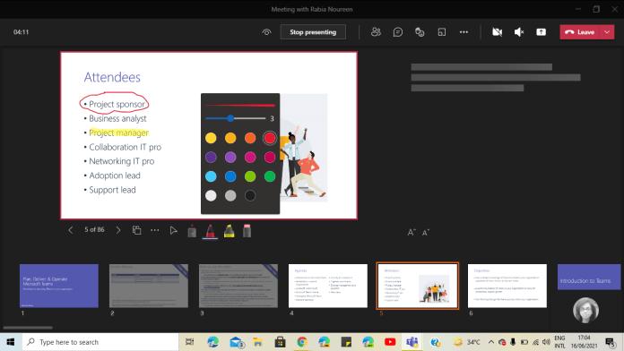 Microsoft Teams añade un puntero láser y soporte de escritura en las presentaciones de PowerPoint Live