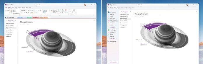 Microsoft OneNote recibe un aspecto inspirado en Windows 11