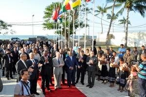 Representantes dos países da CPLP na chegada à XX Reunião Ordinária do Conselho de Ministros da CPLP.