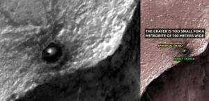 Anomalía en Marte de un objeto metálico esférico en Juventae Chasma