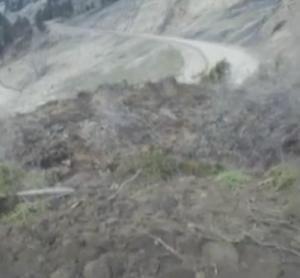 Increíble video muestra un corrimiento de tierras en Snake River Canyon