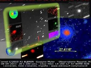 Varios objetos entran con Elenin – Dos observatorios lo confirman – 08 2011