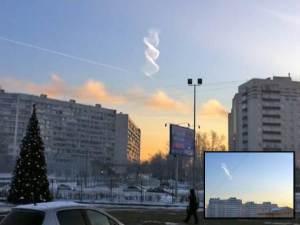 Extraña espiral con forma de hélice aparece sobre Moscú – 26 de diciembre 2012