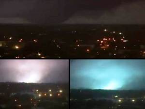 Un tornado tocó suelo en Mobile, todo durante la emisión en directo el día de Navidad 2012