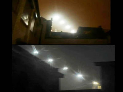 Misteriosas luces flotantes sobre Ronse, Bélgica – 03 2013