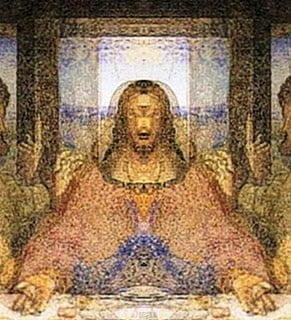"""Imagen Oculta Expuesta en la Pintura """"La Última Cena"""" de Da Vinci"""