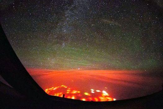 Piloto informa de misterioso resplandor rojo sobre el Océano Pacífico