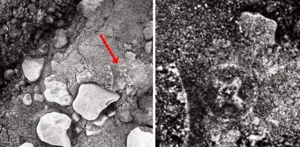 ¿Antigua Cruz Irlandesa tallada en una roca de Marte?