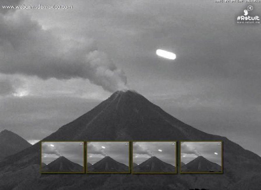 Luz grabada cerca del Volcán Colima