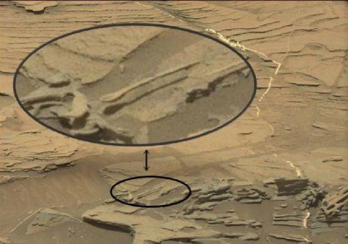 'Cuchara flotante' vista por la sonda marciana Curiosity