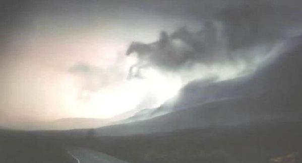 Los cuatro jinetes aparecen en el cielo de Malasia