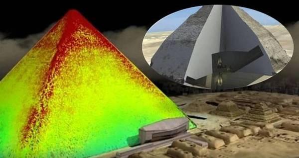 Imágenes en 3D muestran túneles ocultos en pirámide egipcia