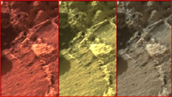 Esqueleto Extraterrestre Fotografiado en Marte
