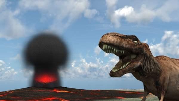La radioactividad mató a los dinosaurios