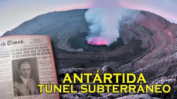 Descubren entrada subterránea en un volcán de la Antártida