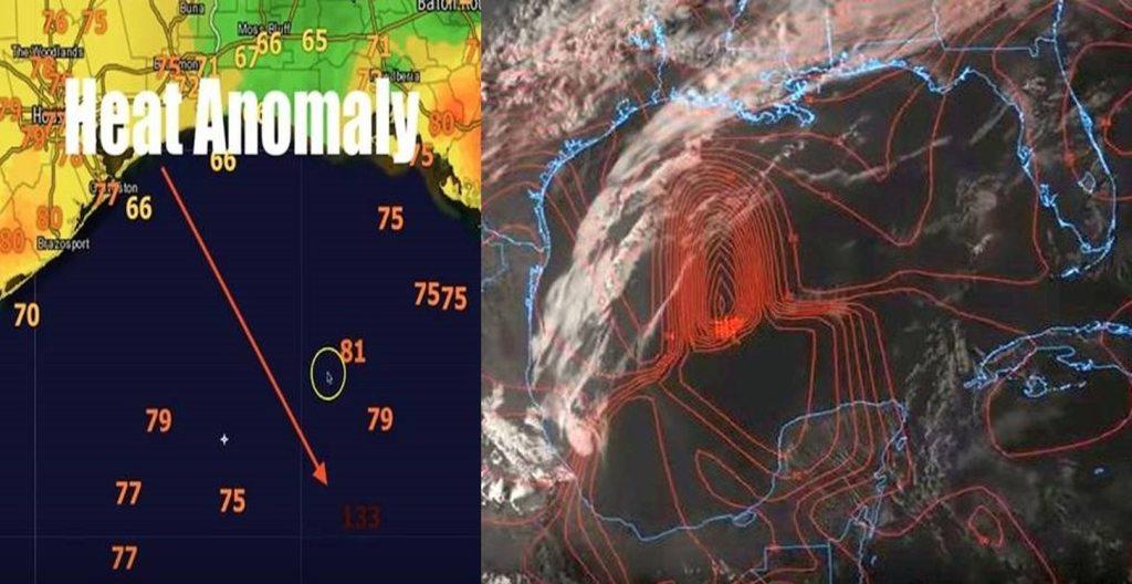Anomalía de calor inusual detectada en el Golfo de México