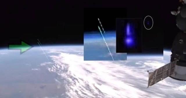 Algo se disparó desde la Tierra al espacio