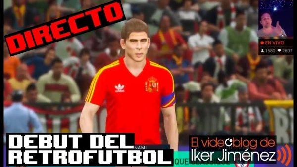 Debut de España en el retrofútbol