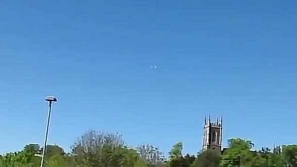 OVNI sobre la Catedral de San Patricio en Irlanda el 17 de mayo de 2018