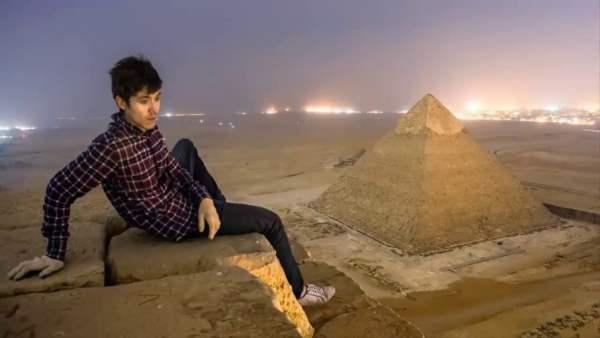 Las imágenes Prohibidas más Increíbles Tomadas en la Cima de la Gran Pirámide de Giza