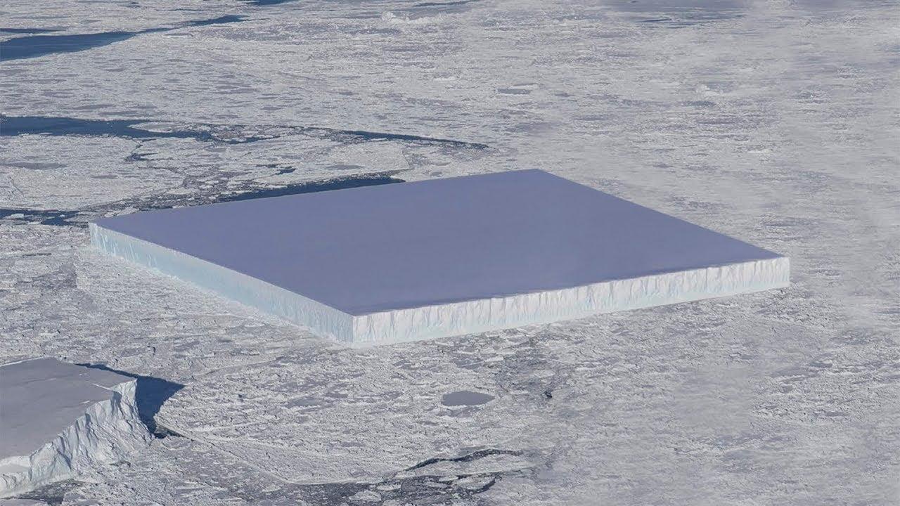  Icebergs Cuadrados en la Antártida 