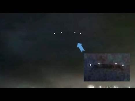 Platillo volador sobre Barcelona, España, durante una tormenta eléctrica (marzo, 2020)