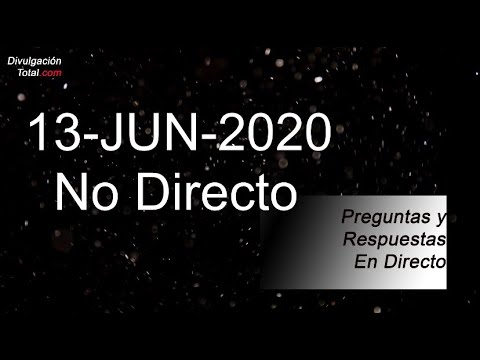13-JUN-2020 No Directo