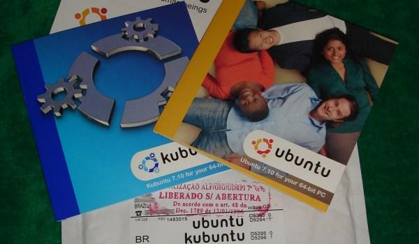 Chegaram os CDs do Ubuntu/Kubuntu 7.10