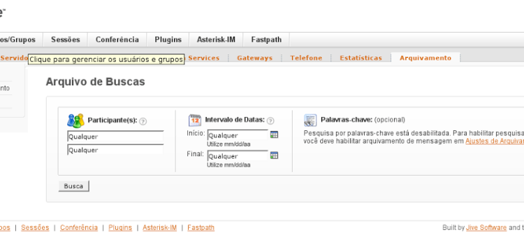 Openfire e o plugin Monitoring Service