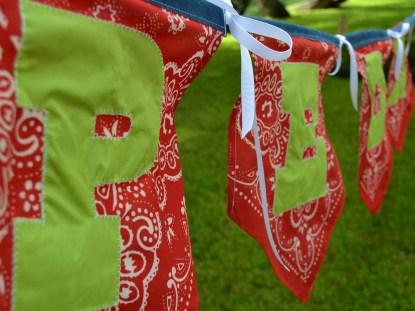 Bandeirolas para festa