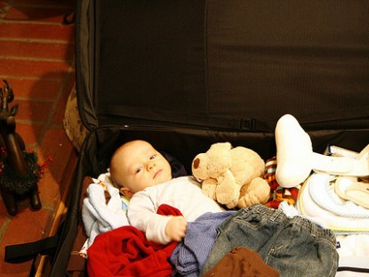 viajando sozinha com o bebê