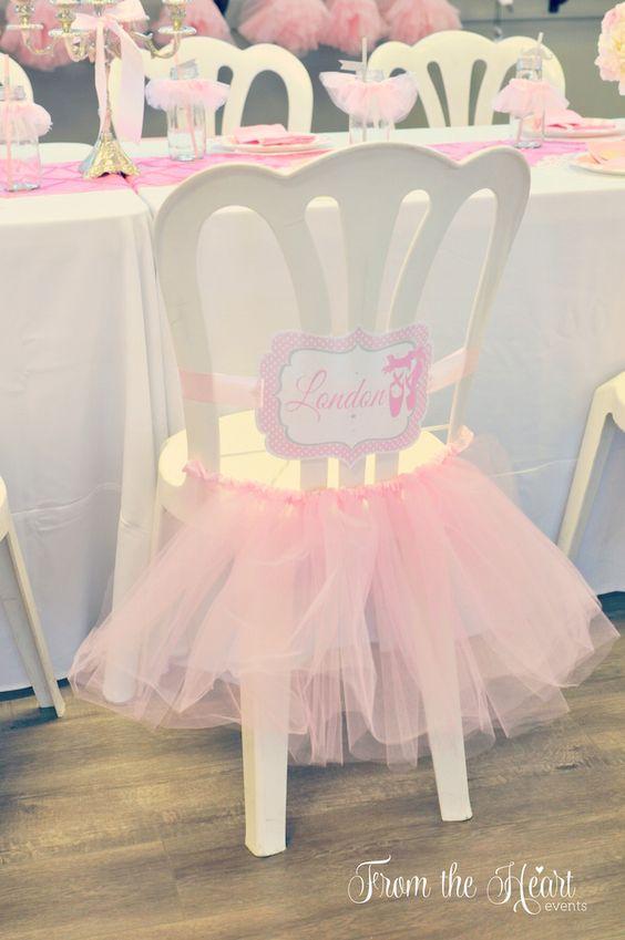 10 detalhes lindos para uma festa bailarina mundo ovo for Como vestir sillas para 15 anos