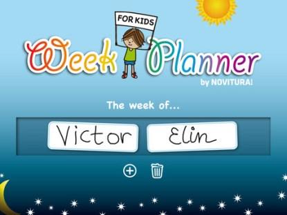 planejando a semana :)