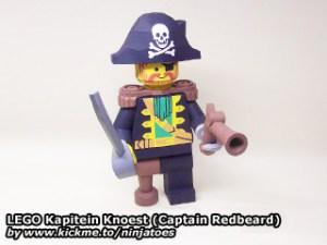 Pirata Barbaroja de lego papercraft