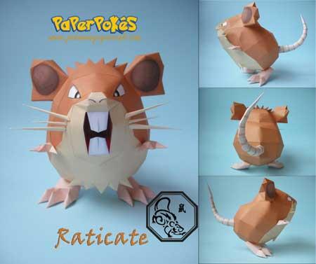 Raticate papercraft