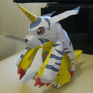 gabumon papercraft