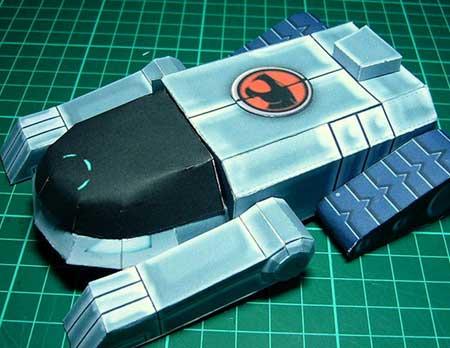 tanque felino papercraft