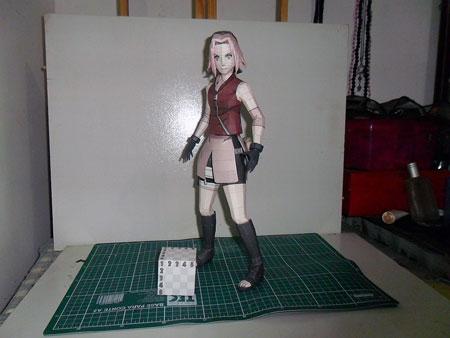 naruto+sakura+papercraft