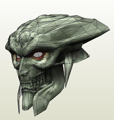 Tekken Yoshimitsu Helmet Papercraft