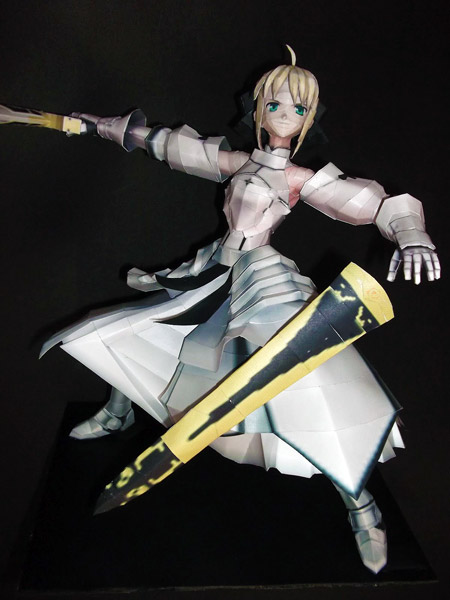 fate+stay+night+saber+lily+papercraft