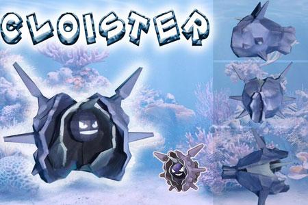pokemon+cloyster+papercraft
