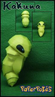 Pokemon Kakuna Papercraft