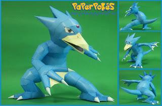 Pokemon Golduck Papercraft