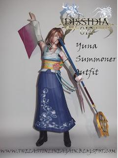 Dissidia 012 - Yuna Summoner Papercraft