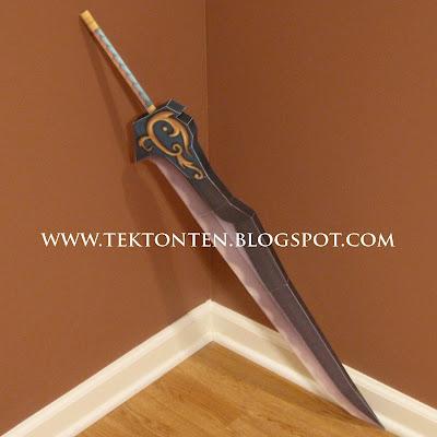 Kingdom Hearts Auron Sword Papercraft