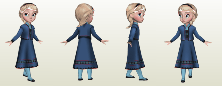 Frozen - Child Elsa Papercraft