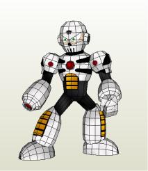 Mega Man - Skull Man Papercraft