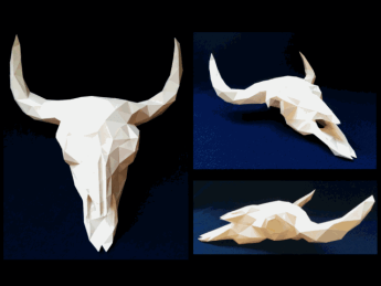 DIY-Papercraft-Bison-Skull